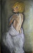 Model Pastels Framed Prints - Beauty of Couture Framed Print by Laura Seed