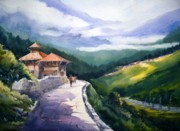 Himalaya Paintings - Beauty of Himalaya by Samiran Sarkar