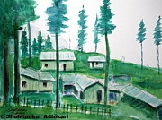 Indian Artist Prints - Beauty of Indian hills Print by Shubhankar Adhikari