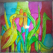 Nature Glass Art Posters - Beauty Of Nature I Poster by Mahboobdeen Fathima sameera farwin