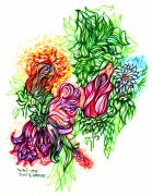 Colorful Drawings - Beauty of Nature by Judith Herbert
