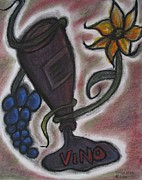 Wine-bottle Pastels - Beauty on the Vine by Tracy Fallstrom