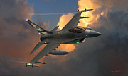 F-16 Fighting Falcon Framed Prints - Beauty Pass Framed Print by Dale Jackson