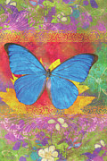 Plants Paintings - Beauty Queen Butterfly by JQ Licensing