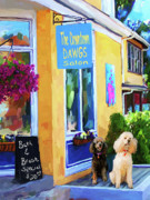 Dog Art Paintings - Beauty Shop by Jai Johnson