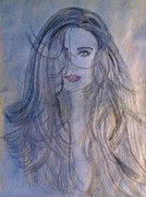 Woman Drawings - Beauty Within by De Beall