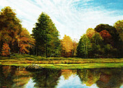 Beaver Pond Paintings - Beaver Pond by John Pirnak
