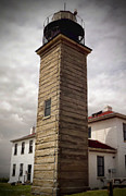 New England Lighthouse Prints - Beavertail Lighthouse Print by Lourry Legarde