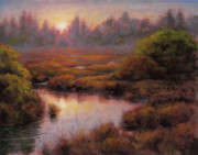 Glow Painting Originals - Beaverton Creek by Michael Orwick