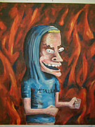 Metallica Paintings - Beavis by Dave Torowski