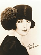Autographs Framed Prints - Bebe Daniels 1925 Framed Print by Padre Art