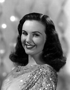 1946 Movies Metal Prints - Because Of Him, Deanna Durbin, 1946 Metal Print by Everett