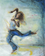 Dancing Girl Paintings - Because She Can by Judith Whittaker
