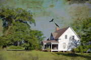 Old Houses Metal Prints - Because We Can Fly Together Metal Print by Jan Amiss Photography
