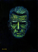 Novelist Paintings - Beckett in Blue by Paul Flynn