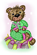 Pajamas Drawings Framed Prints - Becky Bear Framed Print by Tammy Talerico