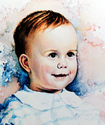 Toddler Portrait Paintings - Becky by Hanne Lore Koehler
