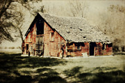 Barn Yard Digital Art Prints - Beckys Barn 1 Print by Julie Hamilton