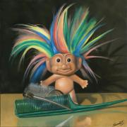 Troll Posters - Bed Head Poster by Judy Sherman