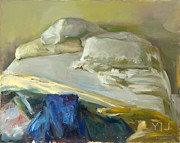 Marc Whitney - Bed with Blue and Yellow...