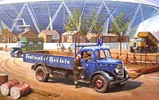 Art Sale Art - Bedford O type 1950 by Mike  Jeffries