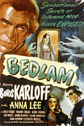 1946 Movies Prints - Bedlam, Boris Karloff, Anna Lee, 1946 Print by Everett