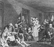 Mental Health Art Photos - Bedlam By William Hogarth, 1735 by Science Source