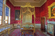 Norfolk; Prints - Bedroom at Holkham Hall Print by Chris Thaxter