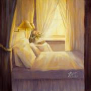 Lit Painting Originals - Bedroom Light by Jane Weis
