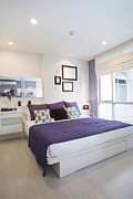 Habitat Metal Prints - Bedroom Metal Print by Setsiri Silapasuwanchai