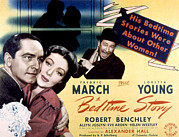 1941 Movies Posters - Bedtime Story, Fredric March, Loretta Poster by Everett