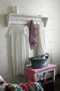 Old Houses Metal Prints - Bedtime Washup Metal Print by Joy Tudor