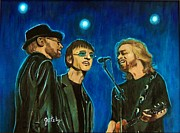 Stage Lights Paintings - Bee Gees by Gretzky