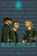 Music Legend Poster Prints - Bee Gees Poster Print by Paintings by Gretzky