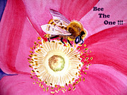 Notecard Prints - Bee The One Print by Irina Sztukowski