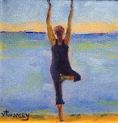 Yoga Pose Paintings - Beech Tree by Valerie Twomey