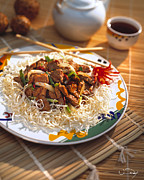 Stir Metal Prints - Beef Stir Fry Metal Print by Vance Fox