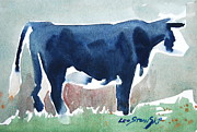 Berkshires Paintings - Beefer study by Len Stomski