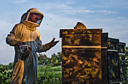 Wax Cap Metal Prints - Beekeeper Metal Print by James Bull