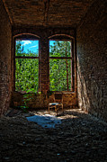 Ruinous Framed Prints - Beelitz forgotten Framed Print by Nathan Wright