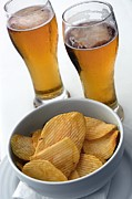 Crinkled Prints - Beer And Crisps Print by Tony Craddock