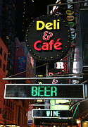 Delicatessen Meat Prints - Beer and Wine at the New York Deli Print by Lee Dos Santos
