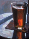 Contemporary Oil Paintings - Beer at Vesuvios by Penelope Moore