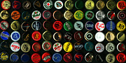 Michelob Posters - Beer Bottle Caps . 2 to 1 Proportion Poster by Wingsdomain Art and Photography