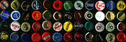 Budweiser Framed Prints - Beer Bottle Caps . 3 to 1 Proportion Framed Print by Wingsdomain Art and Photography