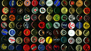 Bottle Cap Posters - Beer Bottle Caps . 9 to 16 Proportion Poster by Wingsdomain Art and Photography
