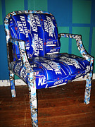 Food And Beverage Sculptures - Beer Box Chair by Heather Huebner