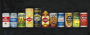 Vintage Painter Painting Prints - Beer Cans Print by The Vintage Painter