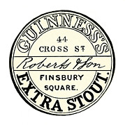Beer Photos - BEER LABEL: GUINNESS, c1840 by Granger