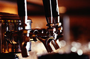 Beer Photo Posters - Beer Taps Poster by Ryan McVay